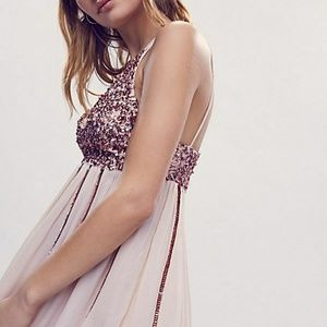 BNIP Free People Glitter Girl Slip Dress